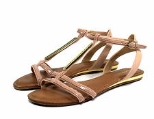 saili-27 New Flat Wedge Sandal Gladiator Party Beach Colorful Women Shoes 5.5-11