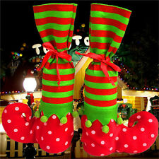 Hot Xmas Elf Boot Shoes Stocking Christmas Tree Decoration Hanging Candy Gift to