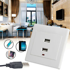 Dual USB Wall Socket Charger AC/DC Power Adapter Plug Outlet Plate Panel Hot