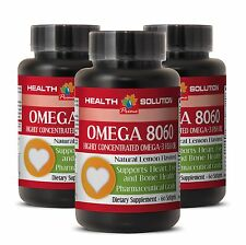 Eye Health Vitamins OMEGA 8060.Product of Norway Pharmaceutical Grade 3 Bot