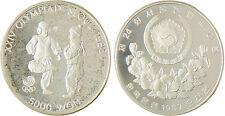 COREE   SEOUL  CHEGI  KICKING  5000  WON  ARGENT  1987  CAPSULE  FLEUR  DE  COIN
