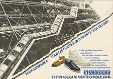 Publicité Advertising 1980 (Double page)  ANDRE chaussure basket soulier mode