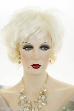 White Blonde Blonde Short Wavy Wigs