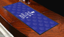 KEEP CALM AND HAVE A BEER BLUE BAR RUNNER IDEAL FOR HOME COCKTAIL PARTY BAR MAT
