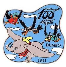 Rare Mint on card DUMBO 100 years Magic 1941 CROWS RARE FLYING Japan DISNEY pin