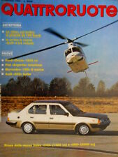Quattroruote 340 1984 Prove Ford Orion 1300 cc. Audi 200 turbo. Mercedes [Q.31]