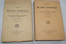 COURS DE MECANIQUE RATIONNELLE-2T-GAUDIOT-1942-ILLUSTRE-CINEMATIQUE VECTEURS