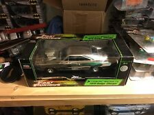 ERTL Joyride The Fast And The Furious 1970 Dodge Charger 1:18 Chrome Chase VHTF