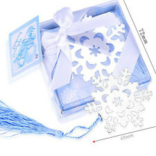 Delicate Cute Snowflake Creative Exquisite Alloy Bookmark With Ribbon Box Gift