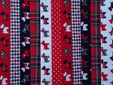 24 JELLY ROLL STRIPS 100% COTTON PATCHWORK FABRIC SCOTTY DOGS 22 INCH LONG