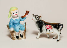Little Boy Blue & Cow Miniature Parkcraft Salt & Pepper Shakers