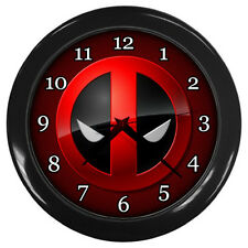 Modern  Large Wall Clock Deadpool Movie Cartoon Marvel Home Living Room Decor