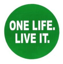 Round ONE LIFE LIVE IT Sticker for Landrover Disco 4x4