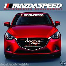 Fits Mazda Miata MX-5 CX-3 CX5 Mazda3 Mazda5 Mazda6 WINDSHIELD BANNER DECAL