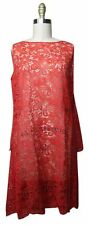 Vintage 60's Red Sheer Lace Dress Sz Small
