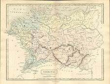 Antient GEOGRAPHY MAP by Samuel Butler 1869-DIPINTO
