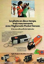 Publicité advertising 1975 Appareil photo Agfamatic Pocket Sensor Agfa