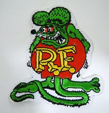 RAT FINK R.F. Iconic Embroidered Iron-On Patch - 3""
