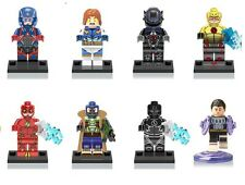 DC The Flash Custom  Mini Figures Set of 8 - fits Lego