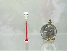 Dollhouse Miniature or Fairy Garden Skull Candy Wand or Tube by Lola Originals