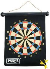 Roll-Up Magnetic Dart Board Set 6 Darts Strong Magnets Home Travel Game Kids UK