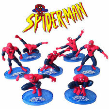 Spiderman Action Figure Kid Boy Display Figurines Set Cake Topper Decor Toy Gift
