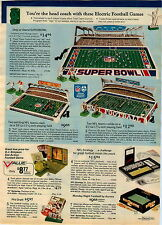 1974 ADVERTISEMENT Game Football Electric Super Bowl NFL Dolphins Vikings Draft