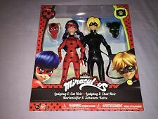 BANDAI MIRACULOUS LADY BUG & CAT NOIR TWO PACK 12 Inch Figures **NEW**