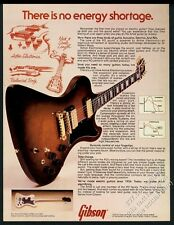 1978 Gibson RD Artist electric guitar photo vintage print ad