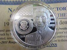 Ronald Reagan 100 year Anniversary of his Life, 1911 - 2011 -71mg of Silver COA