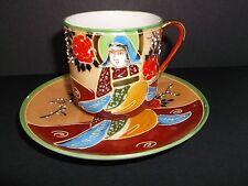A Stunning Antique SAMURAI CHINA Coffee Can & Saucer, 539405, Japanese Made