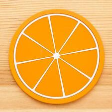 New Flash Sale Fruit Coaster Silicone Cup Drinks Holder Mat Tableware Placemat