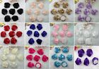 Big Satin Ribbon Rose Hair Flower Craft Wedding Appliques Lots U Pick DIY