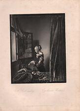 1850 PRINT ~ A GIRL READING ~ P. De HOOGHE