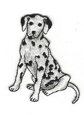 Dalmatian Dog  Iron-On Applique Embroidered  Sewing Fabric Embellishment