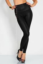 Winter WarmThick Heavy Cotton and Wet Look Latex Leggings Full Length
