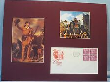 Davy Crockett defends the Alamo & the First day Cover of the Alamo stamp