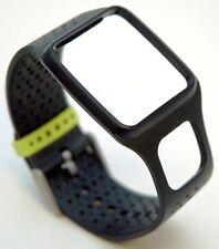 NEW TomTom Comfort Strap Slim BLACK Runner Multi-Sport cardio GPS watch band HRM