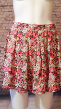 floral mini skirt black red New 12