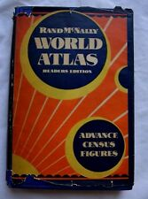 UNIQUE!! 1930 Rand McNally Readers Edition World Atlas, MUST SEE! ( b7)