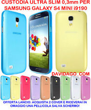 COVER PER SAMSUNG S4 MINI I9190 ULTRA SLIM 0.3 CUSTODIA PROTEZIONE THIN COLORATE