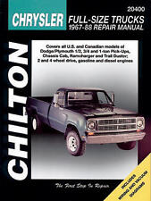 Chilton Repair Manual Dodge Pick-ups, 1967-88 #20400