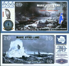 NEW POLYMER 11.12.13 MARIE BYRD LAND 20 PENGUINO SPECIMEN FANTASY ART BANKNOTE!