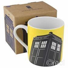 New Doctor Who Yellow TARDIS Ceramic Mug Coffee Official