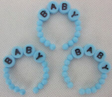 3 Blue Mini Baby Bracelets for Embellishments and announcements of New Baby