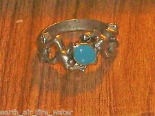 PEWTER FROG RING~ESP~SOULMATE~SUPREME POWERS~size 5 & 7 CERT OF AUTHENTICITY