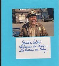 Jonathan Winters Autograph , Original Hand Signed Card