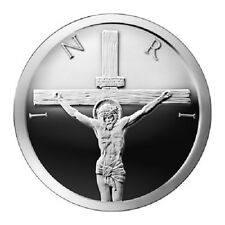 2014 Crucifixion 1 oz Silver Shield Proof SSG SBSS Jesus 999 Round 777