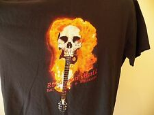 ROCK AND ROLL HALL OF FAME & MUSEUM T-Shirt Large (2-Sided) Skull Fire Guitar