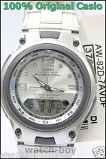 AW-82D-7A Fishing Gear Casio Stainless Steel Men's Watch 10-Year White Analog